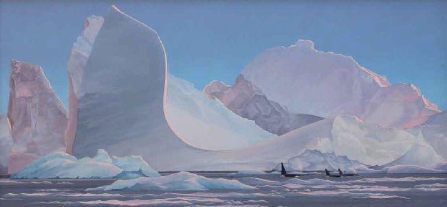 Evening light close to Yalour Island, Antarctica